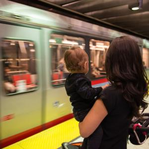Photo: Muni Metro rail in the subway