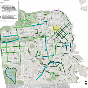 Slow Streets network map