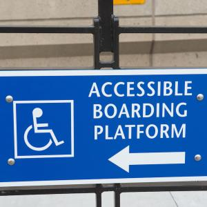 Accessible boarding placard
