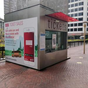 A Customer Service Kiosk at Powell and Market
