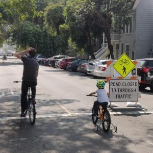 Bikers on Noe Street