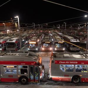 Potrero Yard at night