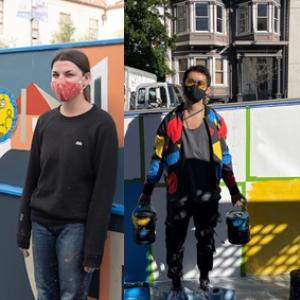 Top: Artist Emily Fromm / Bottom: Artist Simón Malvaez