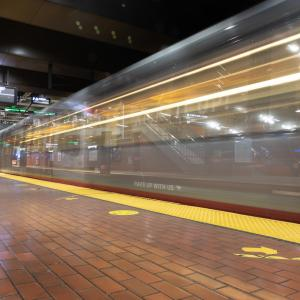 Photo of T Third entering Castro Station