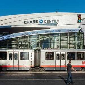 Photo of T Third train passing Chase Center