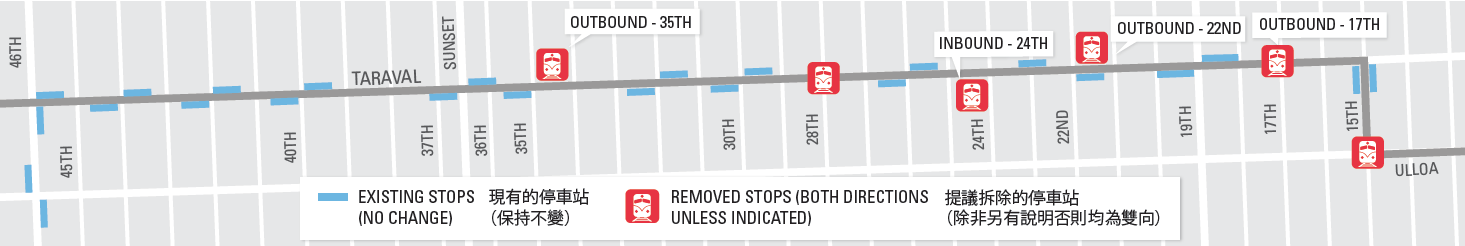 Transit stop removal graphix
